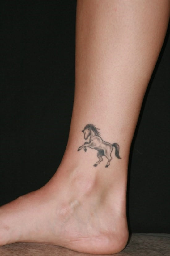 Beautiful-Small-Horse-Ankle-Tattoo