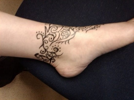 Beautiful-Tribal-Ankle-Band-Tattoo