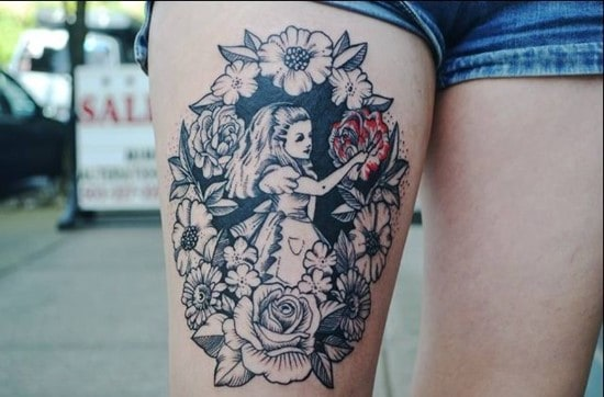 Cartoon-Alice-in-Wonderland-tattoo