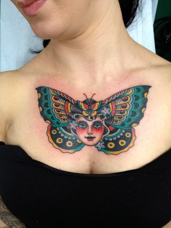 Butterfly Chest Tattoos For Women 169 Most Attrac...