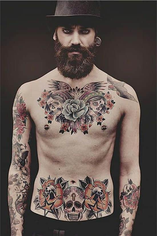 170 best chest tattoos for men women april 2018 for Chest and neck tattoos