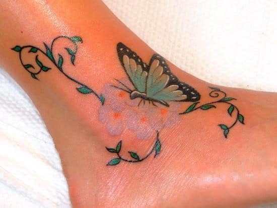 Colorful-Butterfly-Tattoo-for-Women