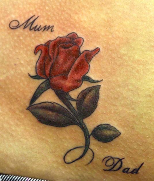 Coloured-rose-tattoo-Little-tattoos