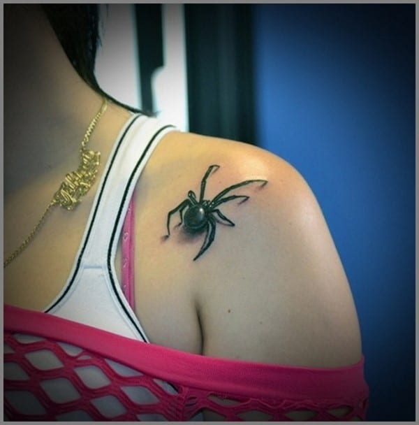 123 eye catching spider tattoos and their meanings. Black Bedroom Furniture Sets. Home Design Ideas