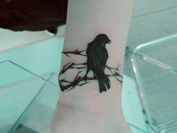 Crow-Singing-Tattoo