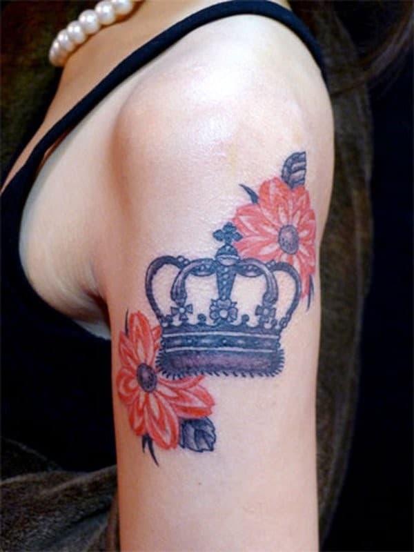 Crown-Flower-Tattoo