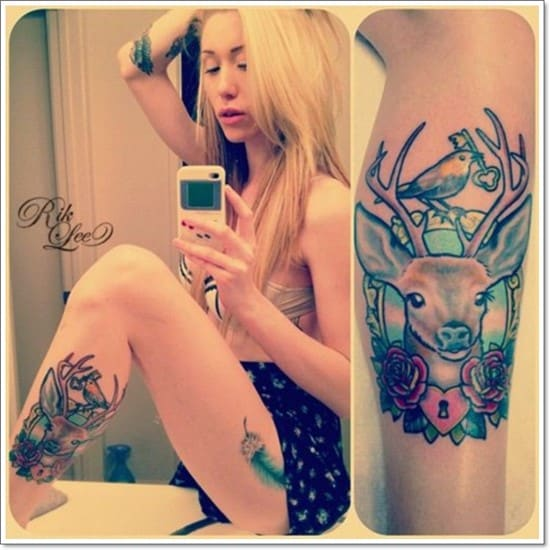 Deer Tattoos For Girls : Attractive deer tattoos and meanings april