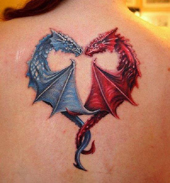 Тату дракон для девушки что значит