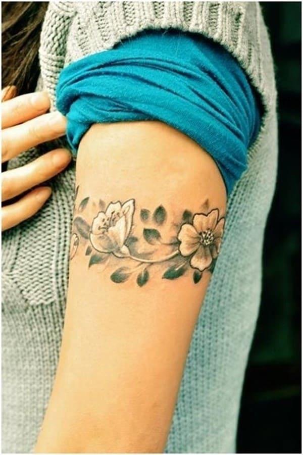 Flower-Armband-Tattoo-Designs