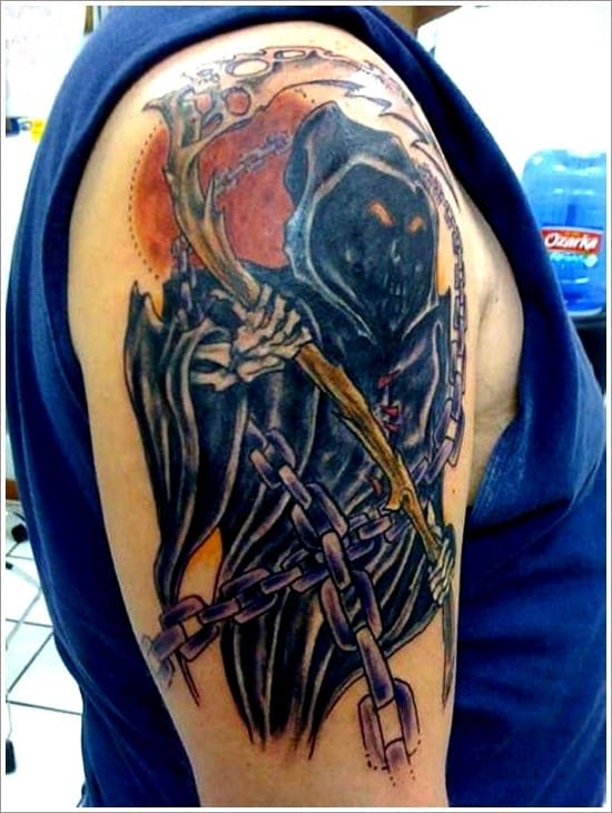 100 horrible grim reaper tattoos 2017 collection part 4. Black Bedroom Furniture Sets. Home Design Ideas