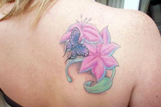 Lotus-Flower-and-Butterfly-Tattoos