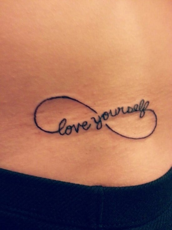 Love-yourself-infinity-tattoo-for-girls