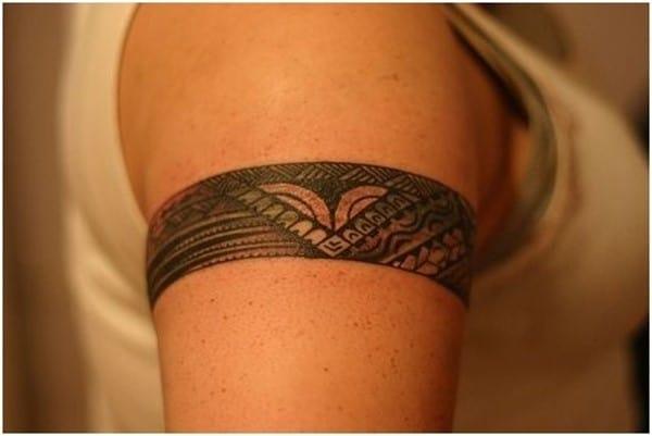 Polynesian-Armband-Tattoo