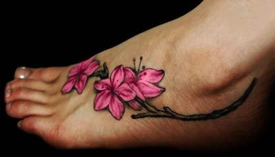 Pretty-Pink-Flower-Ankle-Tattoo