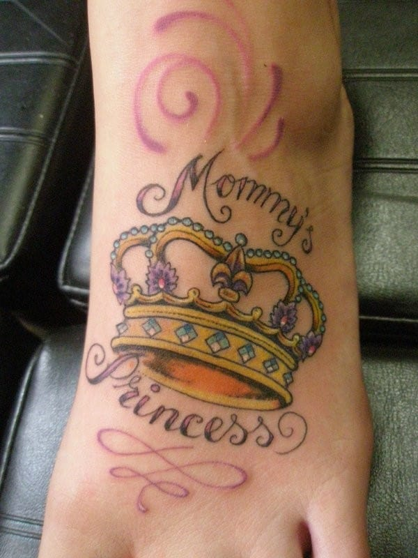 Princess-Crown-Tattoo-on-Foot