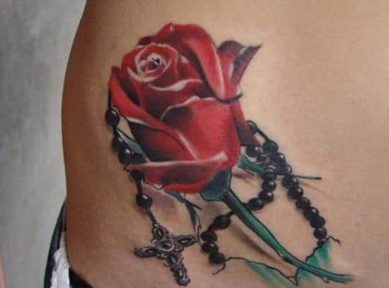 Rose-and-rosary-tattoos