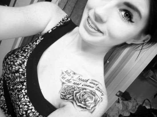 Rose-collar-bone-tattoo-design-for-women