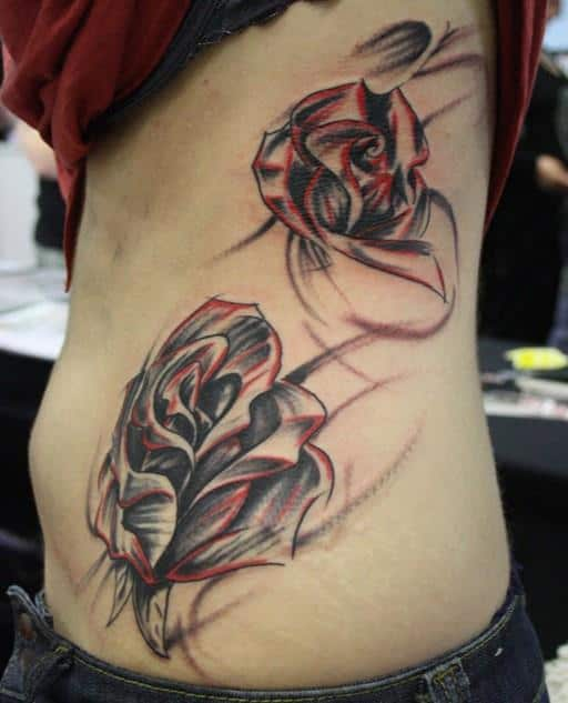 Rose-tattoo-on-side-of-body