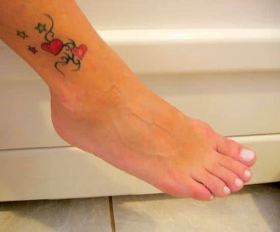 Small-Colorful-Heart-Ankle-Tattoo-for-Women
