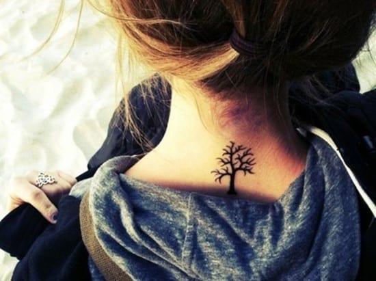 Small-tree-tattoo-on-neck