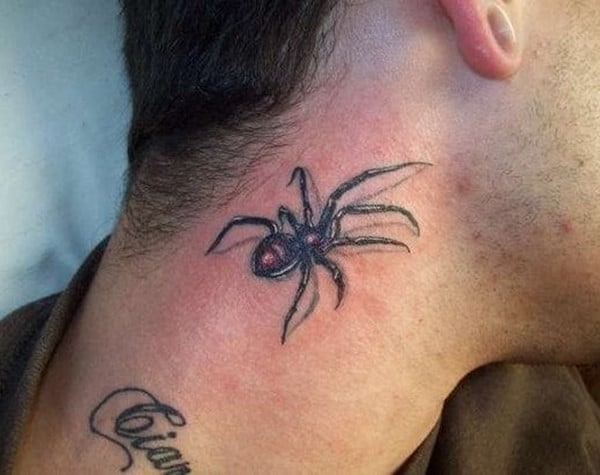 Spider-tattoo-on-man-neck-520x412