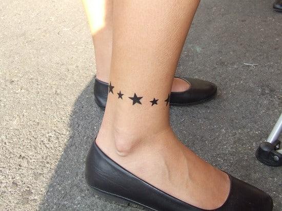Stars-Anklet-Tattoo-for-Women