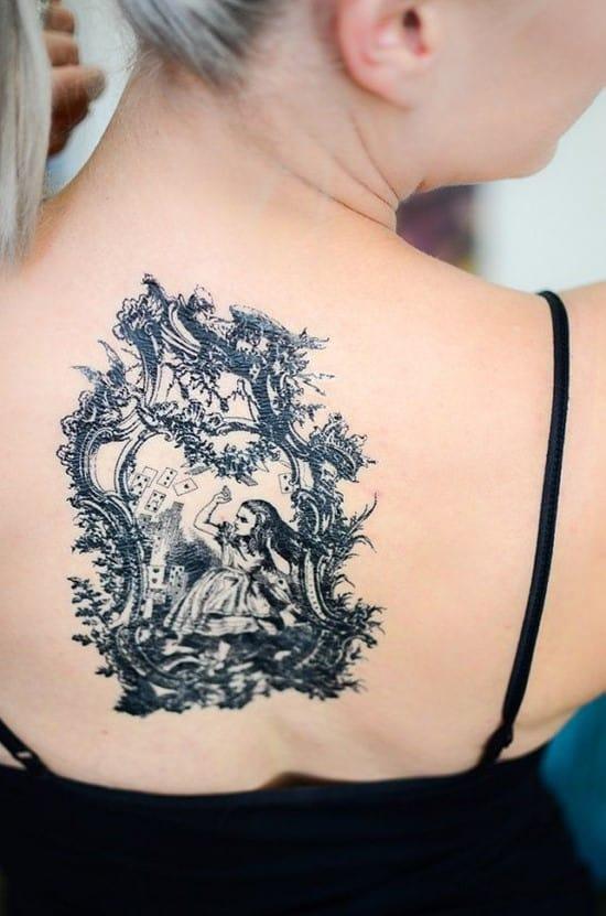 black-color-Alice-in-Wonderland-on-back