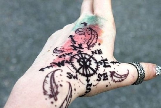 compass-tattoo-design12