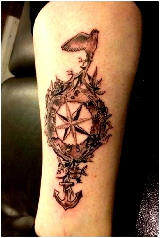 compass-tattoo-designs-2