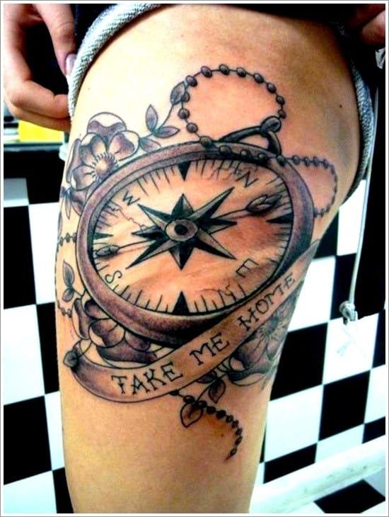 compass-tattoo-designs-21