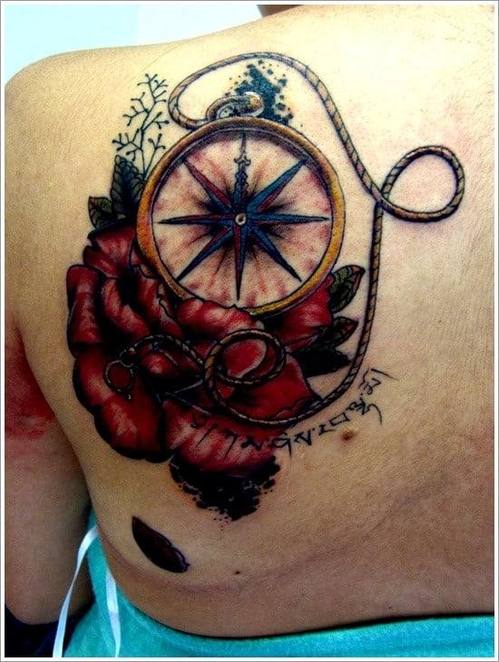 compass-tattoo-designs-23