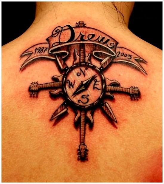 compass-tattoo-designs-25
