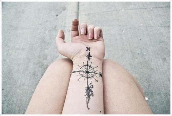 compass-tattoo-designs-28