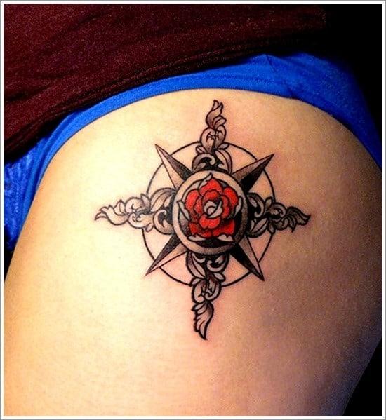 compass-tattoo-designs-4