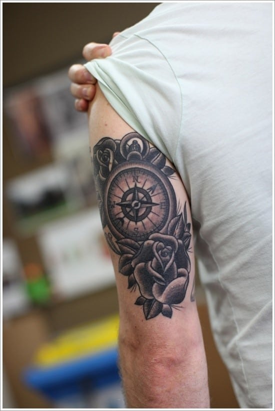 compass-tattoo-designs