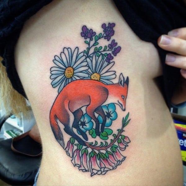 daisy and fox tattoo