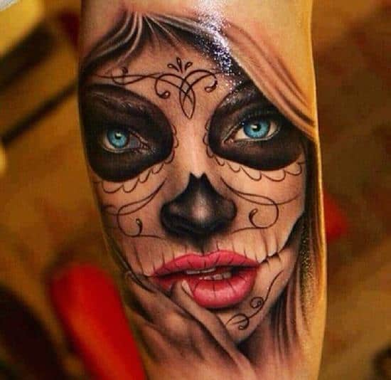 100 best day of the dead tattoos 2016 collection part 2. Black Bedroom Furniture Sets. Home Design Ideas