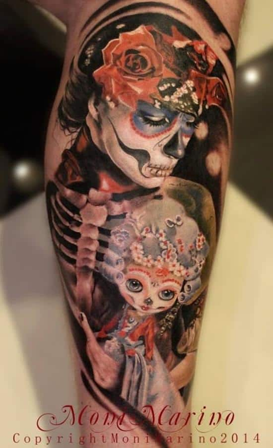 day of the dead girls tattoos