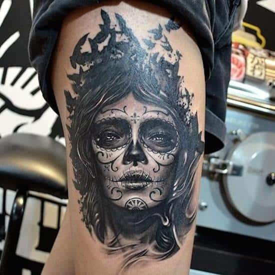 Day Of The Dead Tattoo Designs | ChicanoTattoo Design Commission done mid 2011Graphite