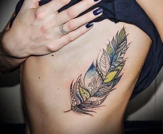 feather tattoos designs ideas men women cute beautiful (33)