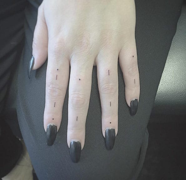 Minimalistic Finger Tattoos by East Iz