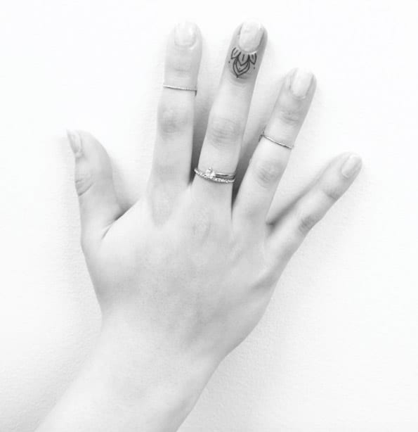 Finger Tattoo Design by Jon Boy