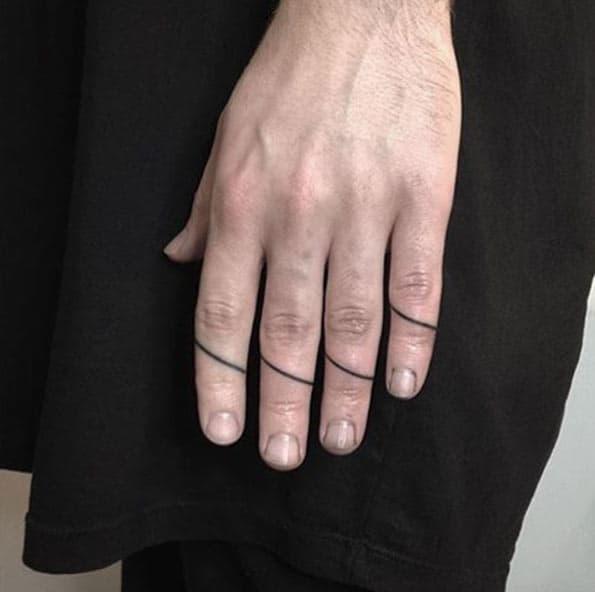Finger Tattoo Design by Andrew Novitskiy