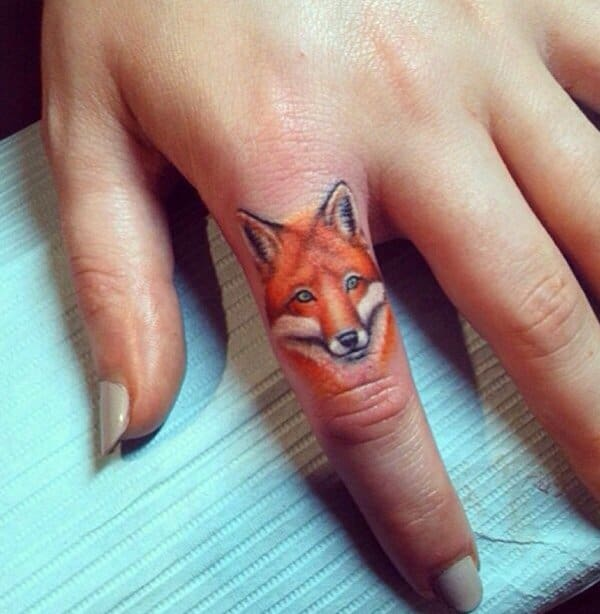 Fox Finger Tattoo