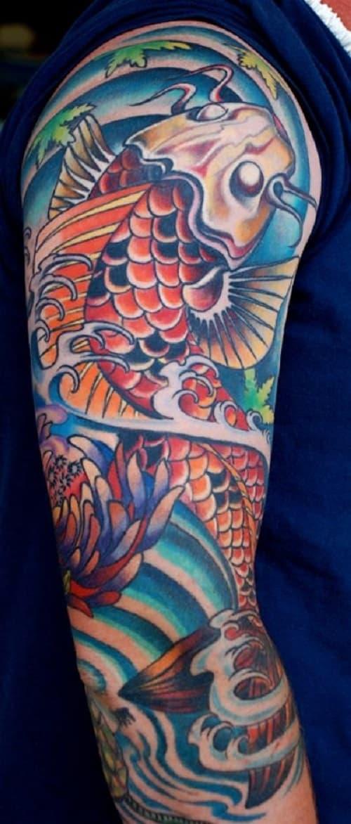 Full Arm Koi Tattoo