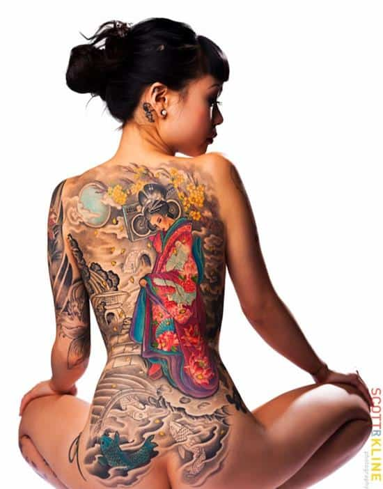 geisha-tattoo-with-radio
