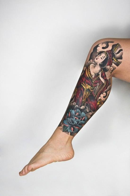 geisha-tattoos-leg