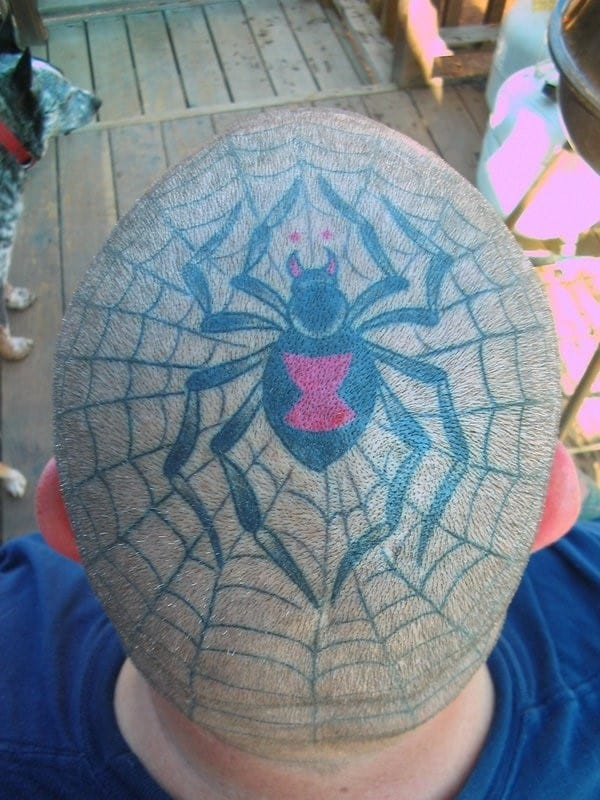 head-spider-tattoo
