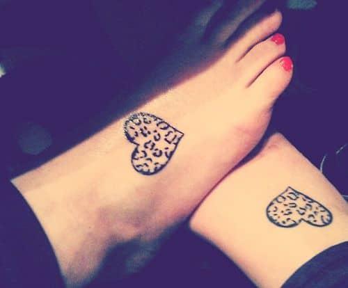 Hearts Friendship Tattoos