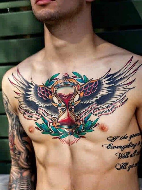 edb3eaf24a76a 100 Meaningful Hourglass Tattoos (Ultimate Guide 2019)
